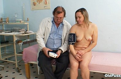 Older Woman Having Gyno Exam Done