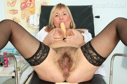 BBW Irma Shows Big Natural Boobs and Licks Dildo