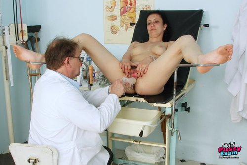 Brunette with Horny Pussy and Natural Tits Examined in Hospital