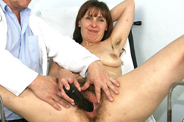 Extremely hairy pussy mature