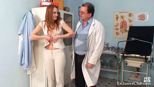 Gyno clinic exam of ginger Denisa