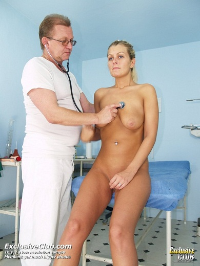 Gyno Doctor Examines Blonde Bambi