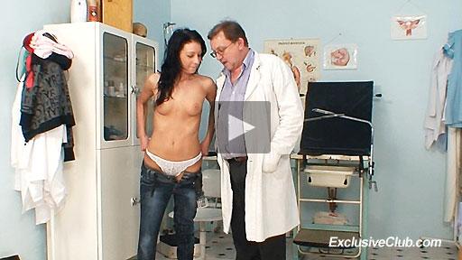 Teen Gabina visits gyno clinic