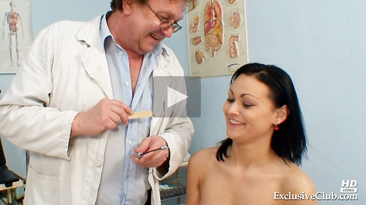 Teen Pavlina first gyno clinic visit